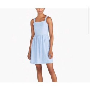 J crew factory apron dress chambray